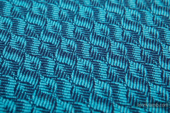 Lenny Lamb Bärsjal – Coulter Navy Blue & Turquoise – Storlek 5