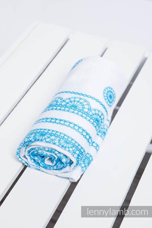 Lenny Lamb – Bambufilt – Ice Lace Turquoise & White