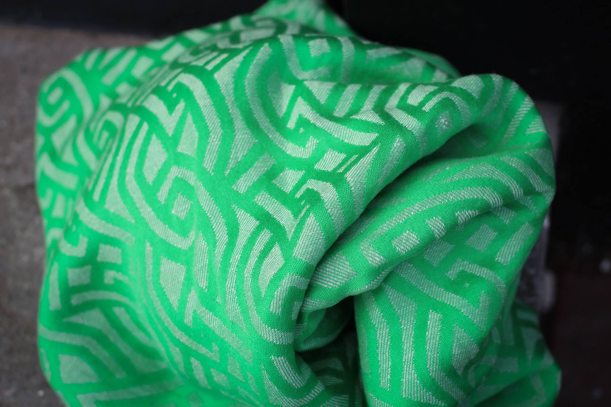 Yaro Braid Electric-Lime Tencel Natural Hemp
