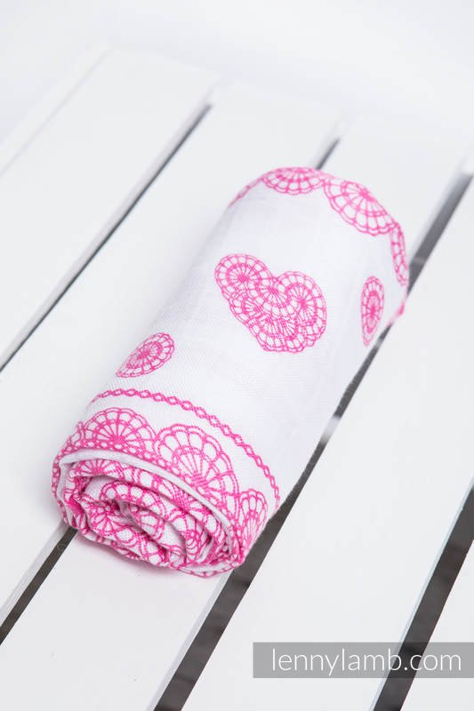 Lenny Lamb – Babyfilt – Iced Lace Pink & White