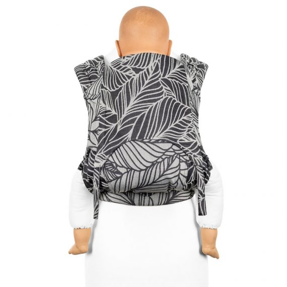 flyclick-plus-halfbuckle-baby-carrier-dancing-leaves-black-white-toddler